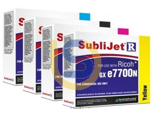 SUBLIJET-R Dye Sublimation Ink Cartridges For Ricoh Printer SG 7100DN High Capacity