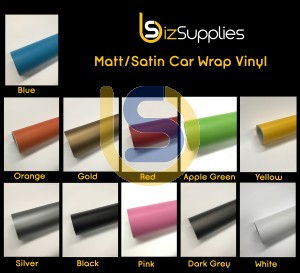 Matt/Satin Finish Car Wrap Vinyl Film - Bubble Free