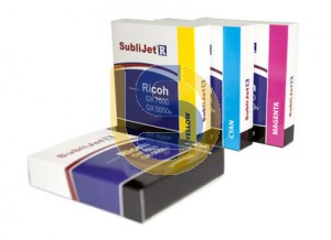 SUBLIJET-R Dye Sublimation Ink Cartridges For SUBLI-TRANS XPRES Ricoh Printer GX 7000 / GX 5050N Std Capacity