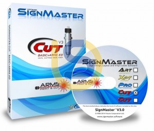 Sign Master Cut + ARMS for Windows with Contour Cutting feature Creation Cutter ONLY