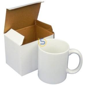 11oz White Ceramic Coffee Mug with Gift Box for Dye Sublimation -