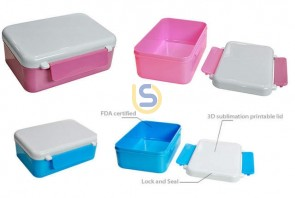 Sublimation Children's Lunch Box 3D Heat Press Vacuum Oven Transfer Print (2 colours)