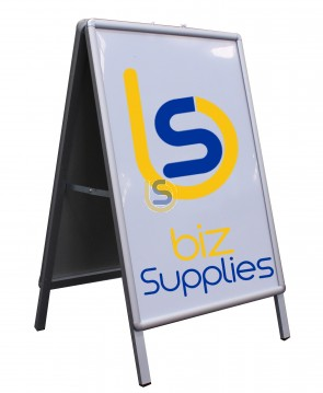 Double Sided Snap A Frame 80x60cm Aluminium Signs Posters Pictures Display Board