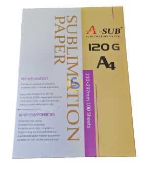 ASUB Premium Sublimation Paper 120gsm Instant Dry 100 Sheets