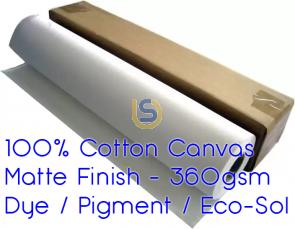 Premium Cotton White Art Cotton Canvas Waterproof for Pigment or Eco-Sol Printers