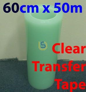 003 - 60cmx50m Clear Tape