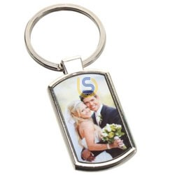 YA - 88 Key Ring ( Rectangle) Metal Plate Sublimation Print