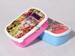 Sublimation Lunch Box with metal plate  (2 colours)