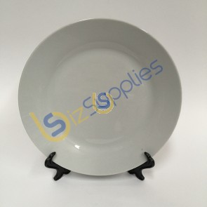 """8"""" Plain White Ceramic Plate with Stand for Sublimation Printing"""