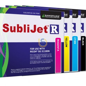 SUBLIJET-R Dye Sublimation Ink Cartridges For SUBLI-TRANS XPRES Ricoh Printer SG 3110DN / SG 7100DN Std Capacity