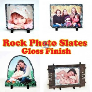 Rock Photo Slate / Frame for Dye Sublimation Printing Gloss FINISH