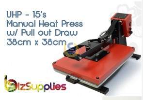 Heavy Duty Clamshell Flat Heat Press 38x38 with Pull out Draw