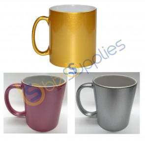 Gold/Silver/Pink Outside Color Mug for Sublimation Printing